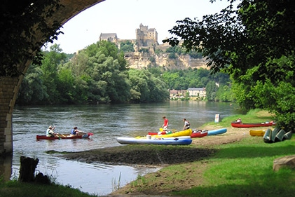 Kayaker on the Dordogne River