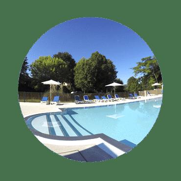 Piscine chauffée non couverte du camping & parc aquatique
