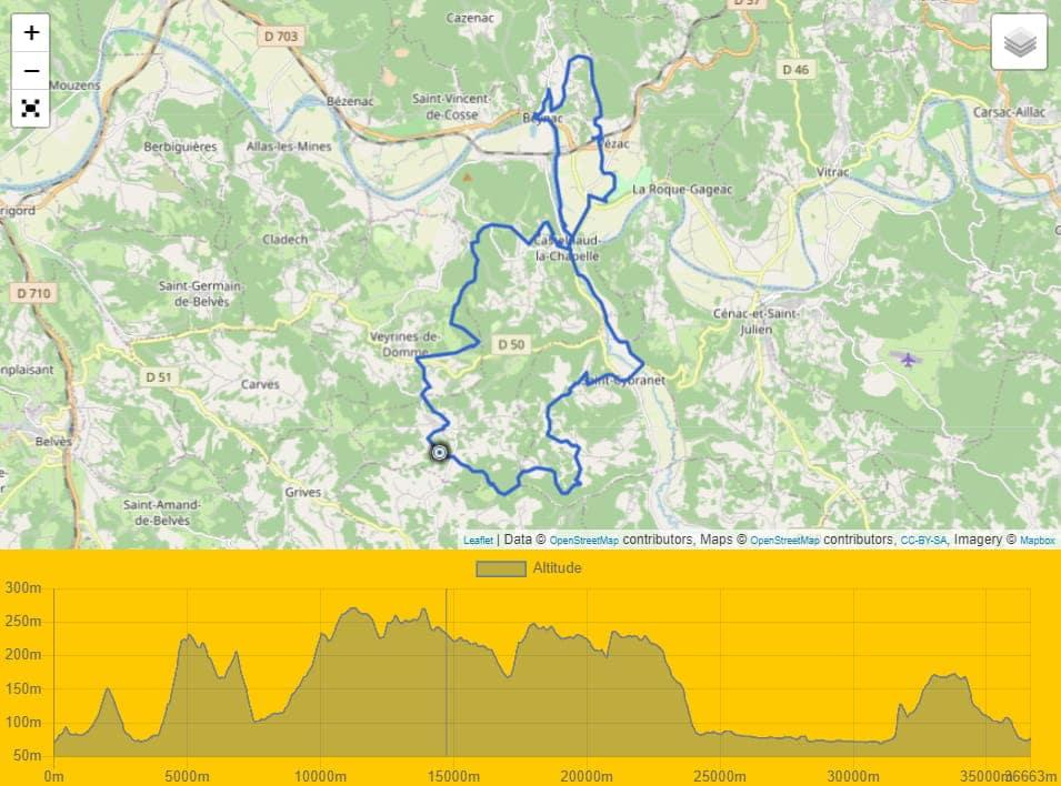 Circuit Vtt autour de Castelnaud