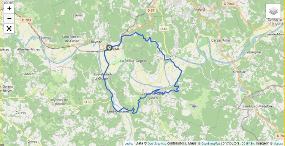 Circuit 1 Vezac – Castelnaud – Vitrac