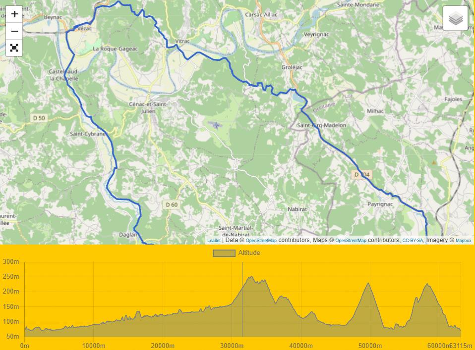 Circuit 4 Vezac – Castelnaud – Daglan – Gourdon – Vitrac